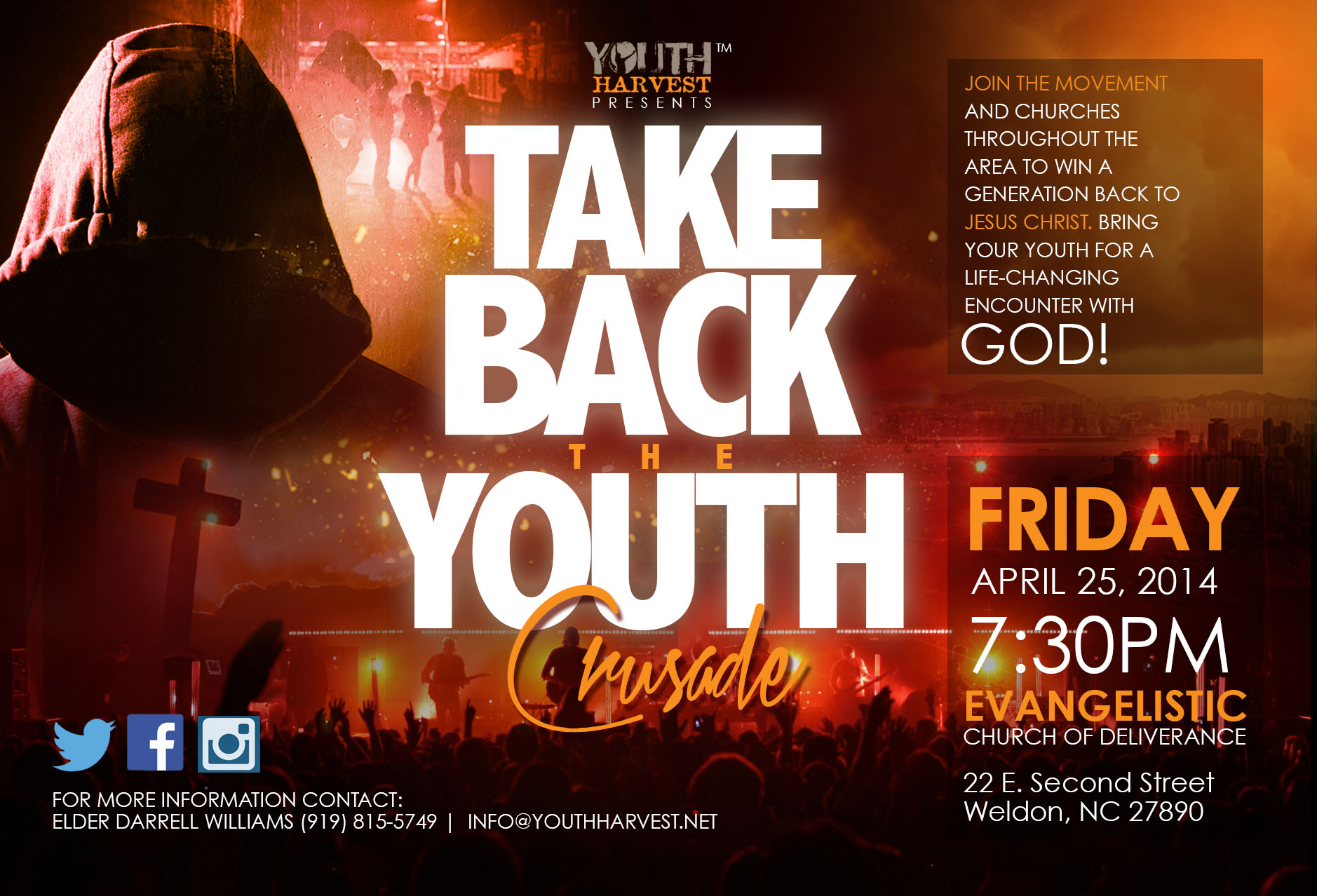 Take Back the Youth Crusade – YOUTH HARVEST